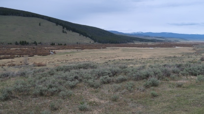 The site of the Big Hole encampment of the Nez Perce.