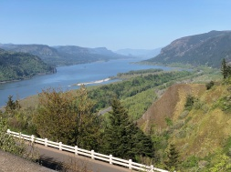 This is the Columbia River Gorge